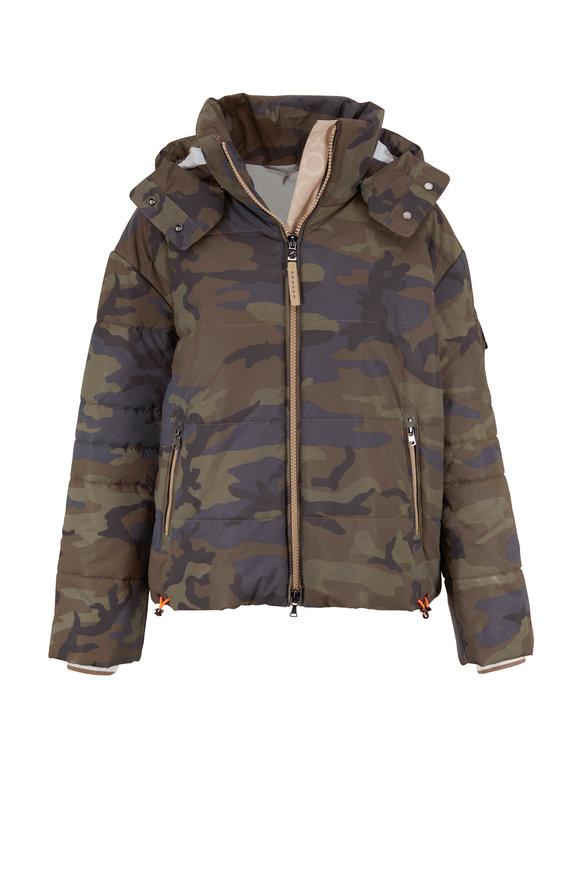 Bogner Lora Blue & Gray Camo Ski Jacket