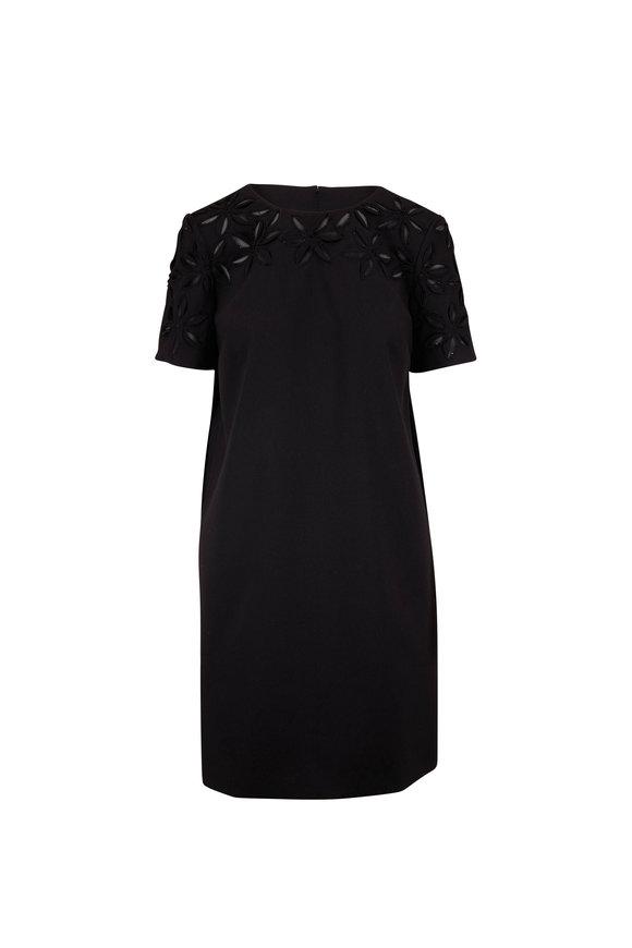 Carolina Herrera Black Short Sleeve Shift Dress