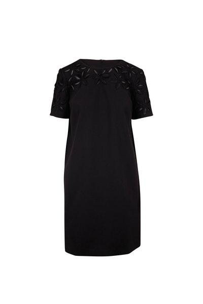 Carolina Herrera - Black Short Sleeve Shift Dress