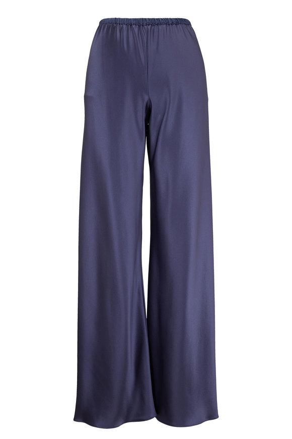 Peter Cohen Bias Denim Silk Wide Leg Pant