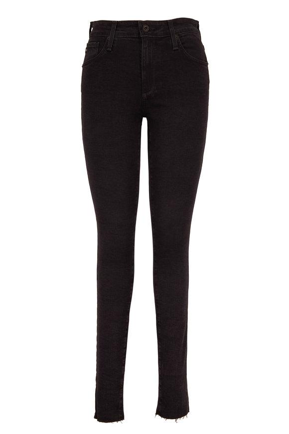 AG Farrah Altered Black High-Rise Skinny Jean