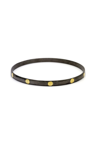 Gurhan - Silver & Gold Bangle Bracelet