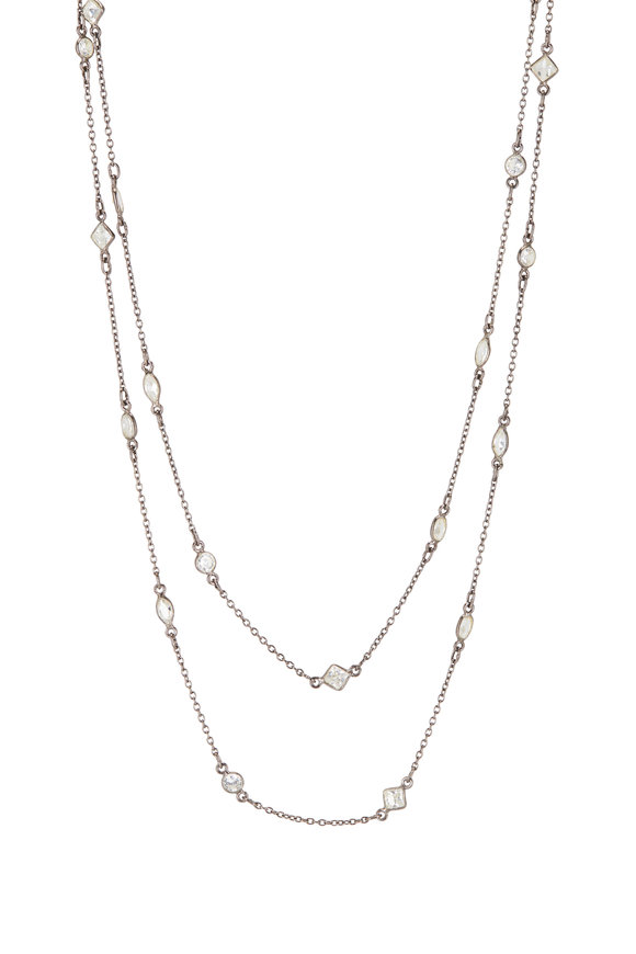 Loriann Mixed Shape Crystal Chain Necklace