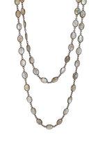 Loriann - Sterling Silver Oval Labradorite Accessory Chain