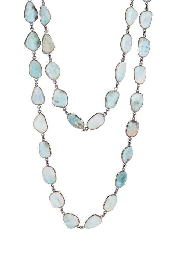 Loriann Sterling Silver Larimar Medium Accessory Chain