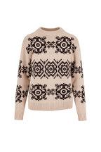 Eric Bompard - Nougat & Ebony Norwegian Snowflake Sweater