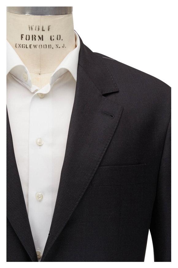 Brunello Cucinelli Anthracite Houndstooth Wool Suit