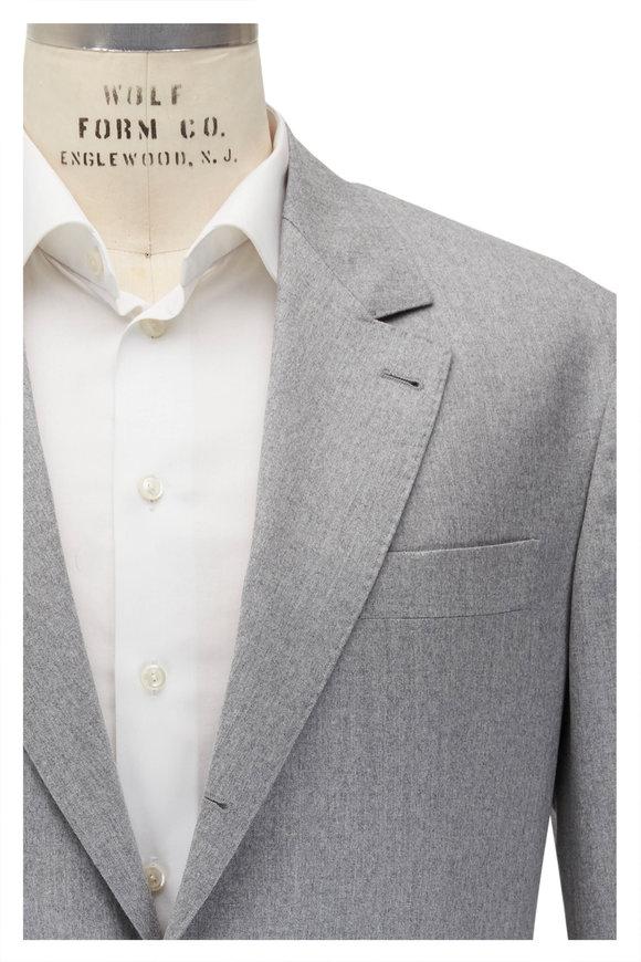 Brunello Cucinelli Light Gray Wool Suit