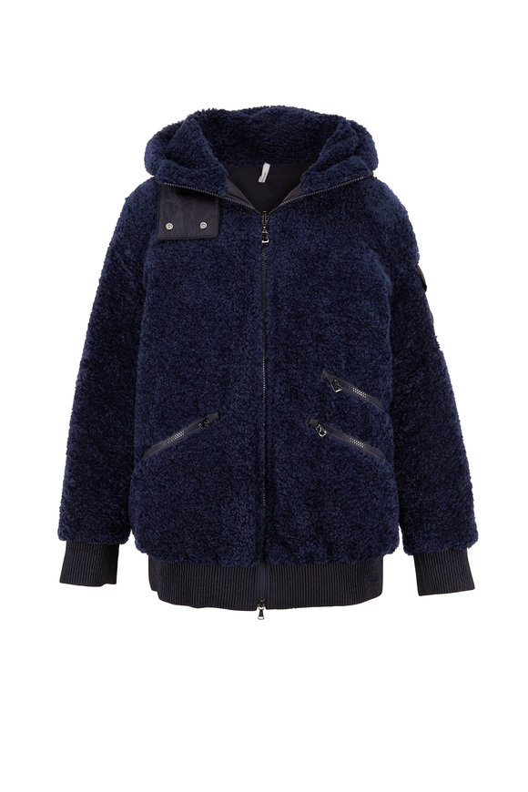 Bogner Kinga Navy Reversible Down Teddy Jacket