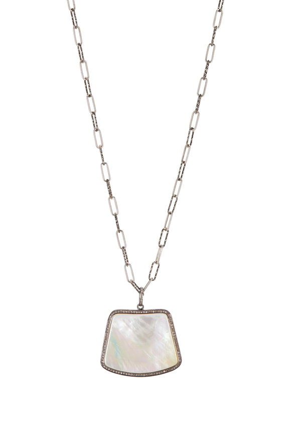 Loriann Sterling Silver Mother Of Pearl Necklace