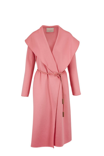Lafayette 148 New York - Asford Pink Salt Cashmere Wrap Coat