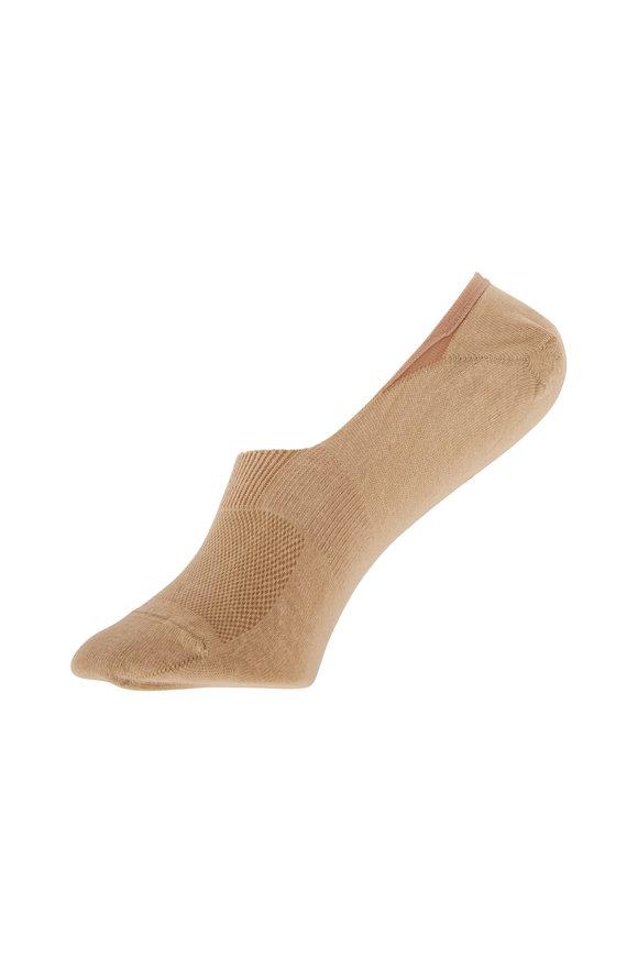 Pantherella  Rio Light Khaki Egyptian Cotton No-Show Socks
