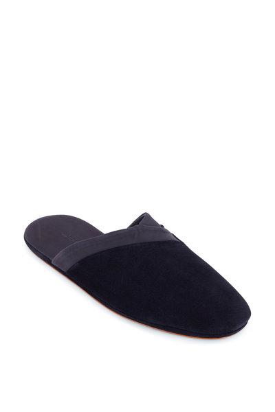 John Lobb - Knighton Navy Suede Slipper
