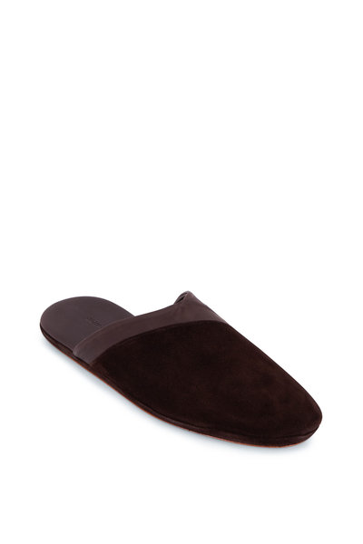 John Lobb - Knighton Dark Brown Suede Slipper