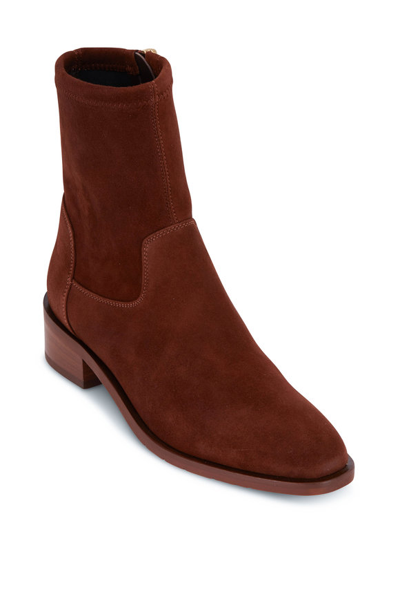 Aquatalia Fallon Chestnut Suede Boot