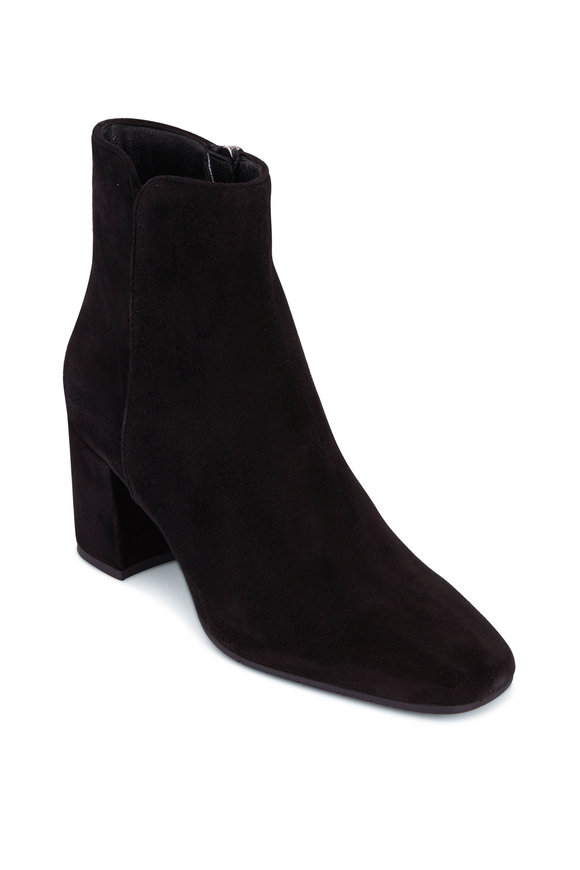 Aquatalia Denisse Black Suede Bootie, 70mm