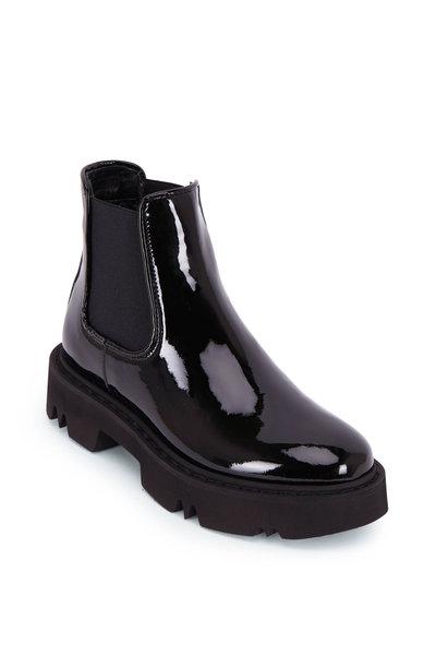 Aquatalia - Haylie Black Patent Lug Sole Boot
