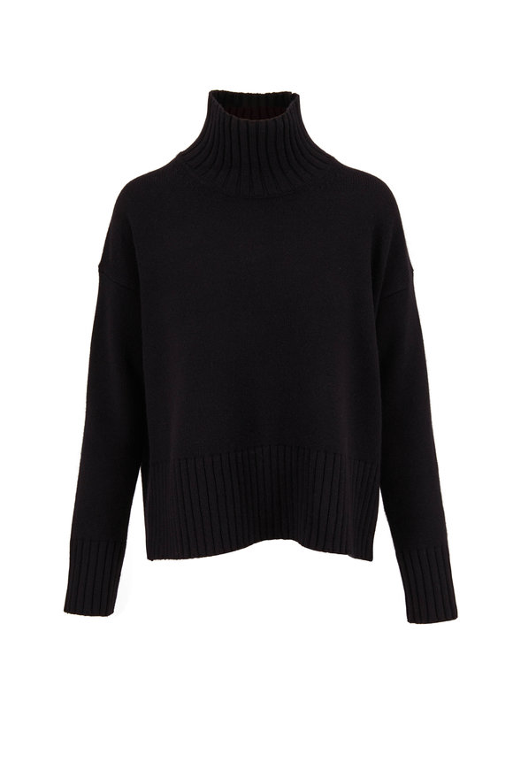 CO Collection Black Ribbed Turtleneck Sweater