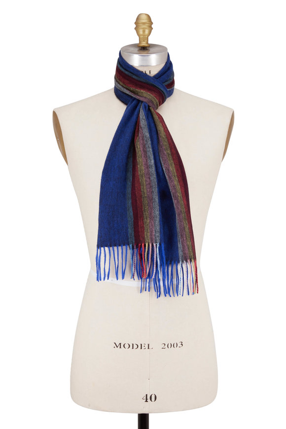 Paul Smith Navy Blue Central Scarf
