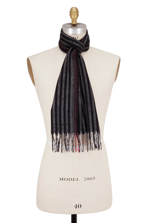 Paul Smith Black Multi Edge Scarf