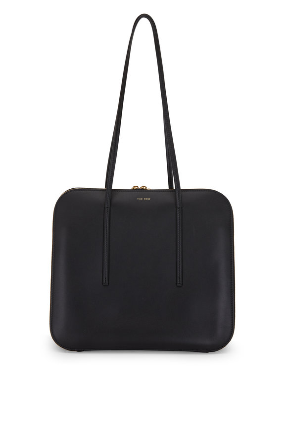 The Row TR3 Black Leather Shoulder Bag