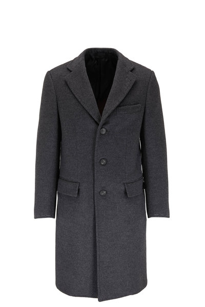 Brioni - Charcoal Double-Faced Wool Top Coat