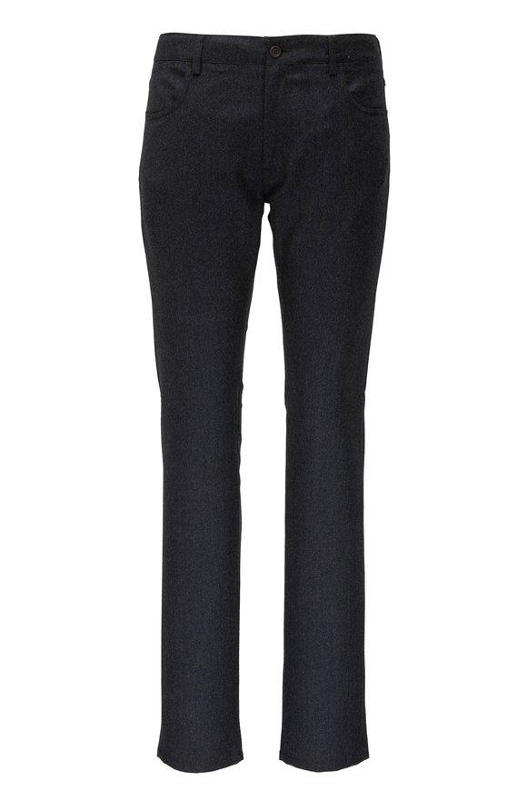 Canali Charcoal Grey Wool Five Pocket Pant