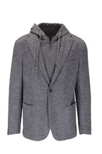 Fradi - Gray Cotton & Wool Dickey Sportcoat
