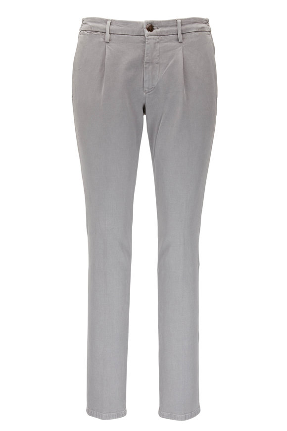 Fradi Gray Darted Stretch Cotton Pant