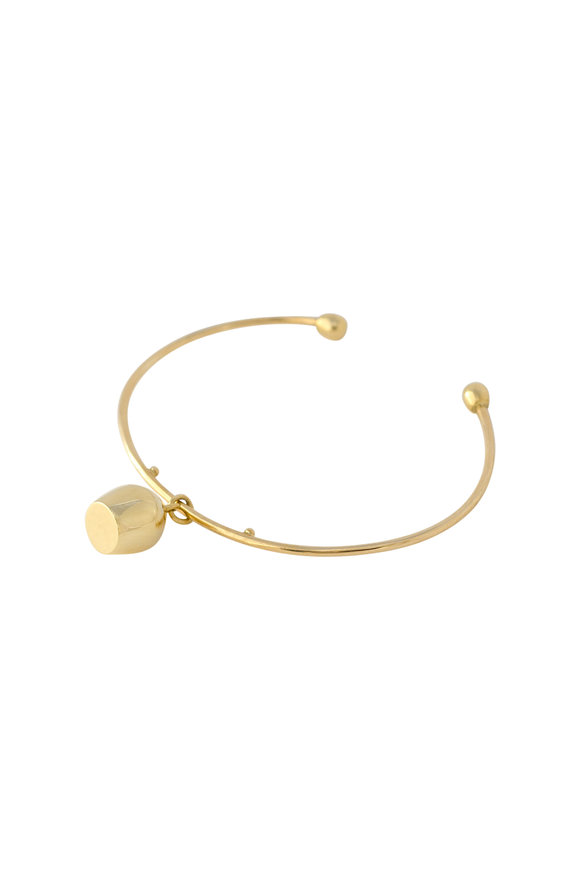 Haute Victoire 18K Yellow Gold Lune Charm Wire Cuff