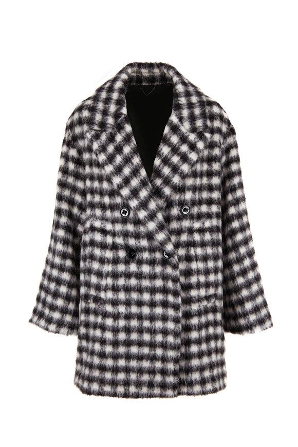 Dorothee Schumacher Luxury Black & White Check Coat