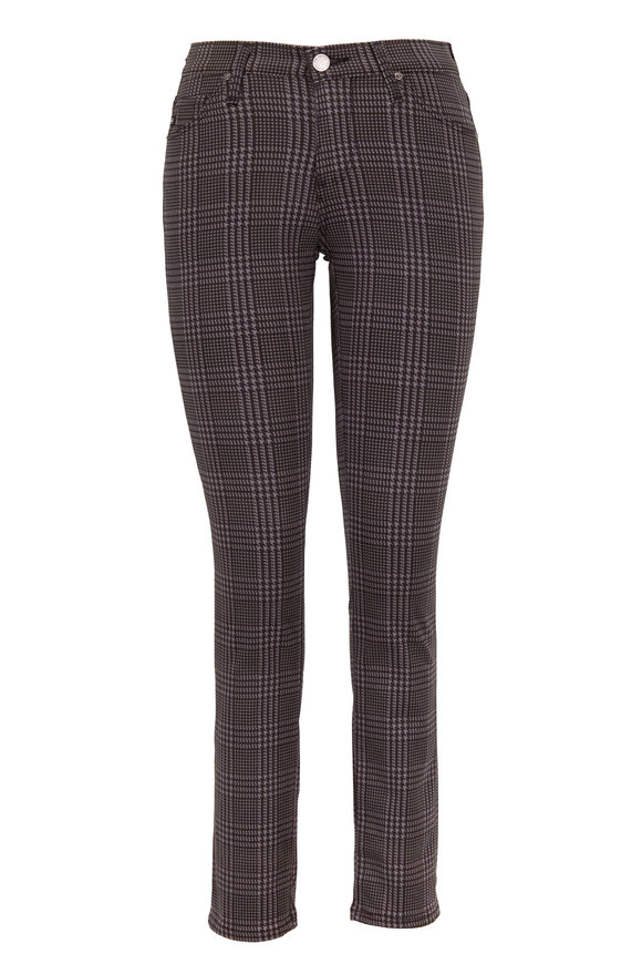 AG Prima Charcoal Grey Plaid Cigarette Ankle Jean