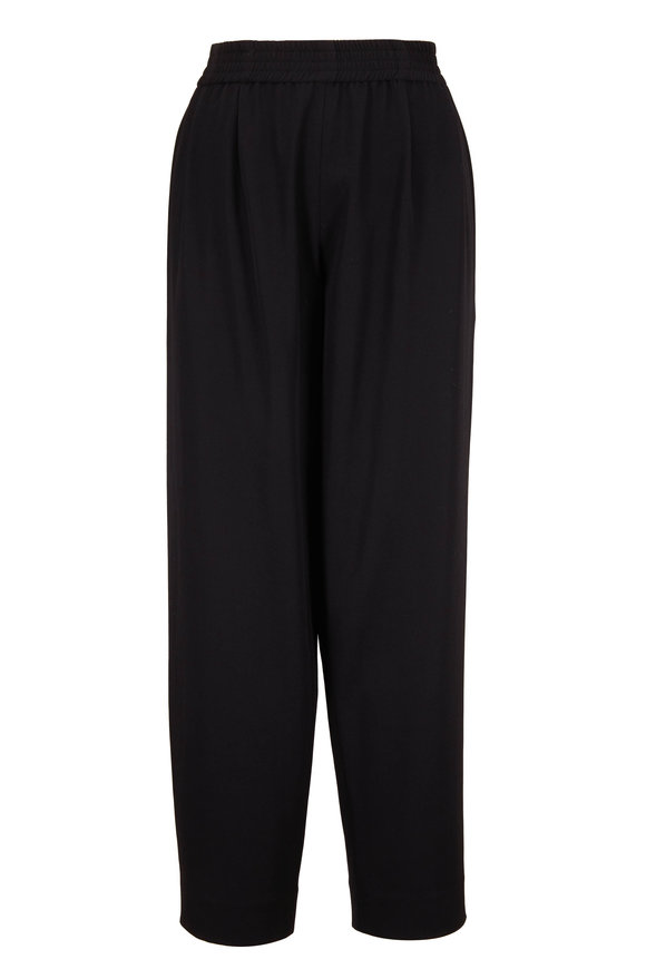 The Row Olle Black Water Repellant Wool Pant
