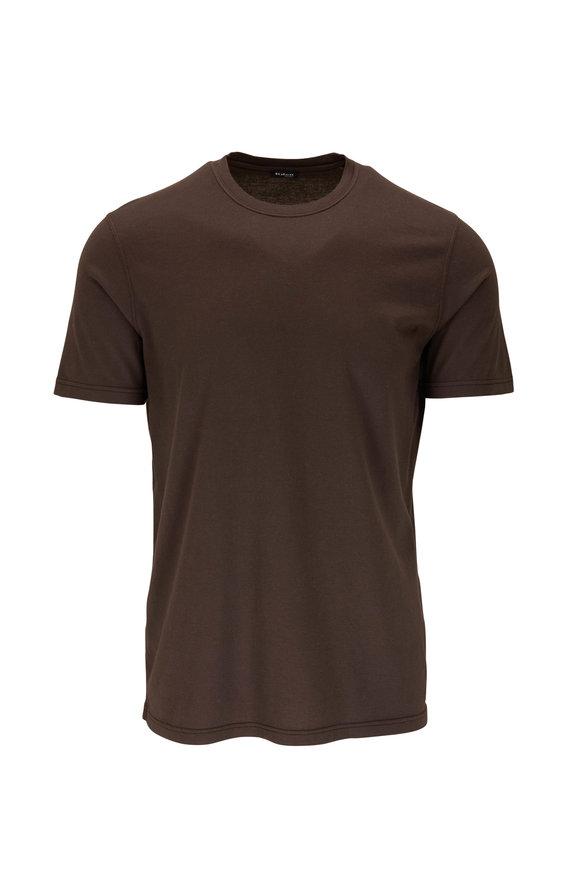 Kiton Brown Cashmere & Wool T-Shirt