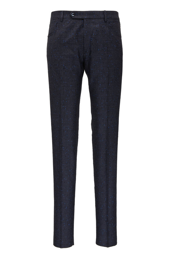 Zanella Curtis Grey Boucle Wool Five Pocket Pant