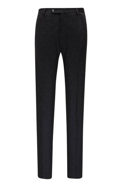 Zanella - Curtis Charcoal Grey Plaid Wool Five Pocket Pant