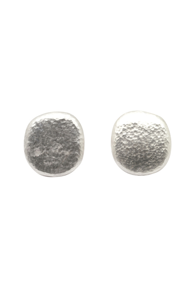 Sterling Silver Pebbled Stud Earrings