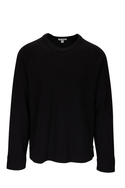 James Perse - Black Raglan Sleeve Pullover Sweatshirt