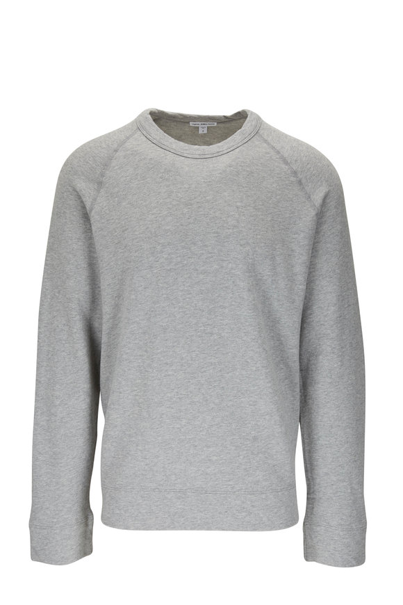 James Perse Light Grey Raglan Sleeve Crewneck Sweatshirt
