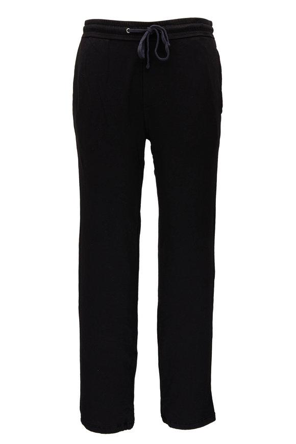 James Perse Classic Black Cotton Sweatpant
