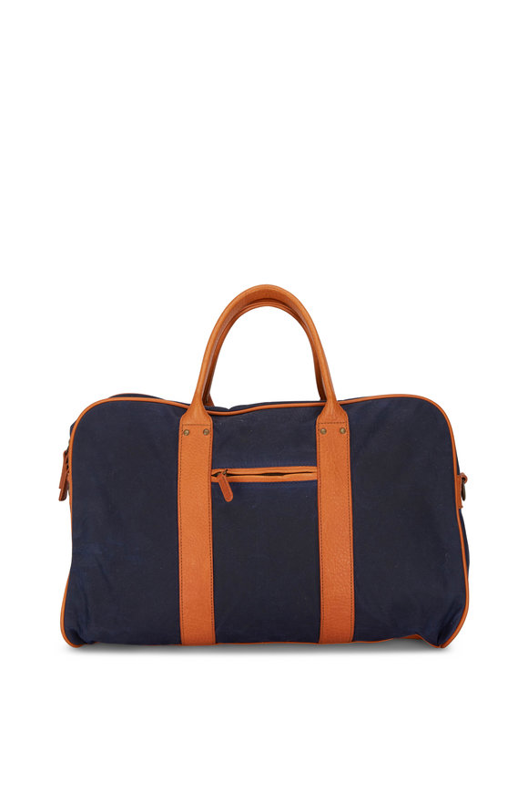 Moore & Giles Taylor Navy Canvas Duffle Bag