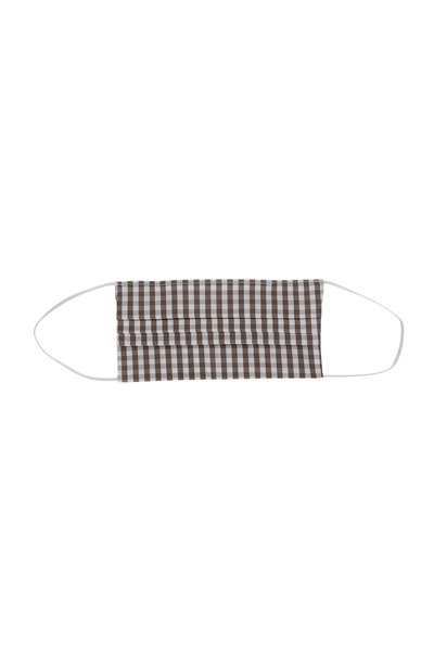 Made by Hand - Taupe Gingham Face Mask