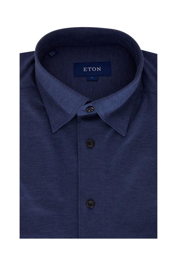Eton Navy Blue Contemporary Fit Sport Shirt