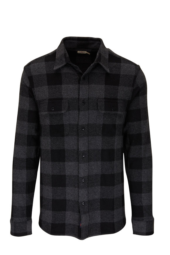 Faherty Brand Legend Charcoal & Black Buffalo Sweater Shirt