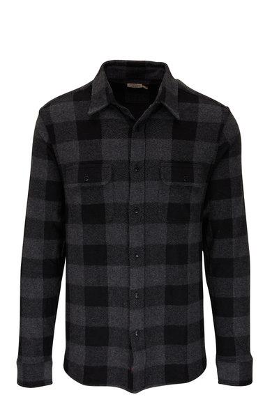 Faherty Brand - Legend Charcoal & Black Buffalo Sweater Shirt