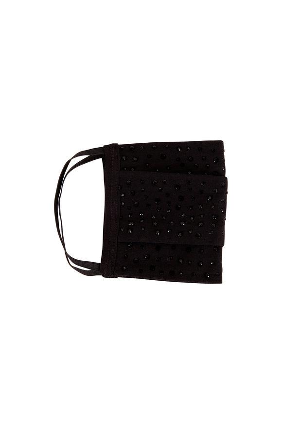 Carolyn Rowan Black Cotton Scattered Black Crystal Mask