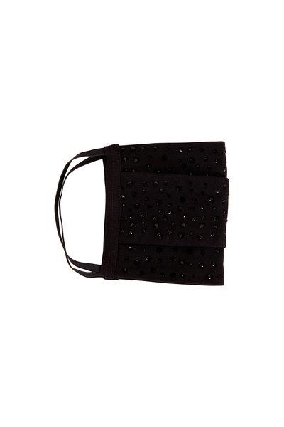 Carolyn Rowan - Black Cotton Scattered Black Crystal Mask