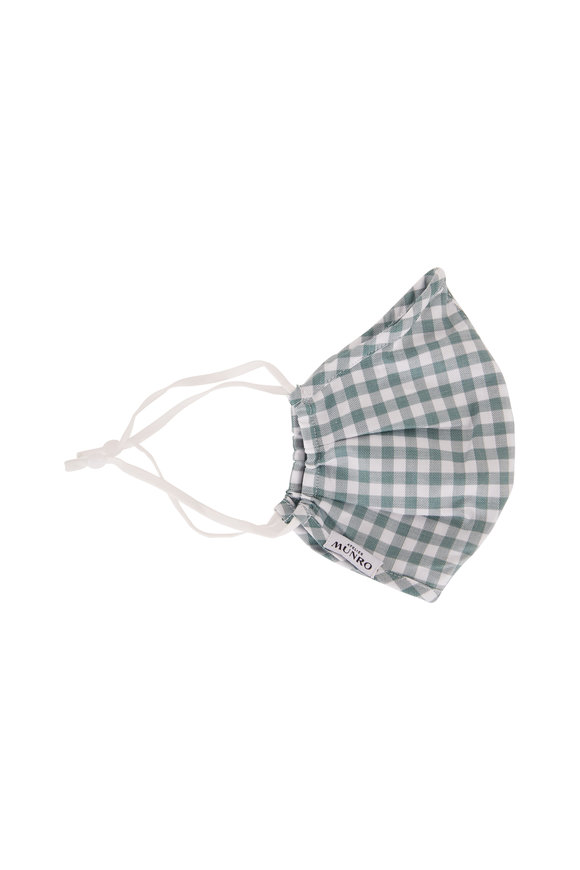 Atelier Munro Green & White Gingham Mask
