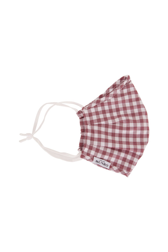 Atelier Munro Red & White Gingham Mask