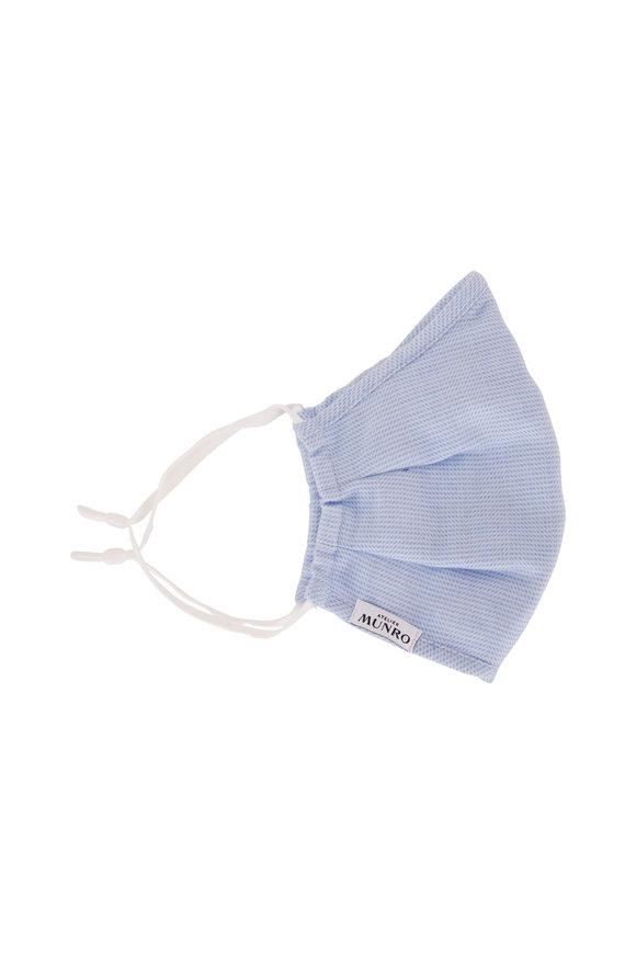 Atelier Munro Light Blue Herringbone Mask